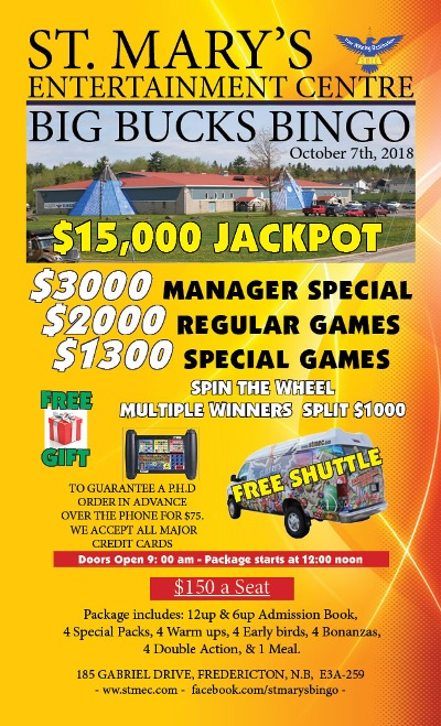 October 7th Big Bucks Bingo resized